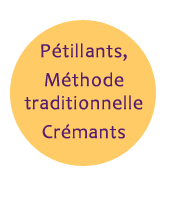Pétillants, méthode traditionnelle, crémants, mousseux