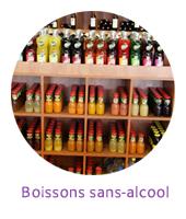 Sans alcool, jus de fruits, eaux, sirops