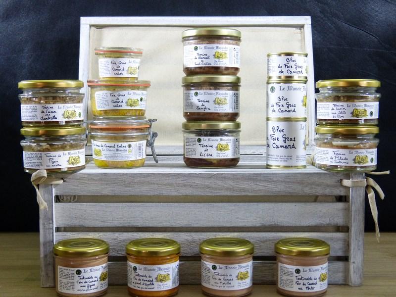 Foie gras terrines Manoir d'Alexandre